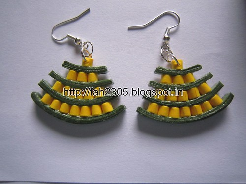 Handmade Jewelry - Paper Quilling Egyptian Earrings (1) by fah2305