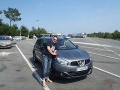 Martin with hire car