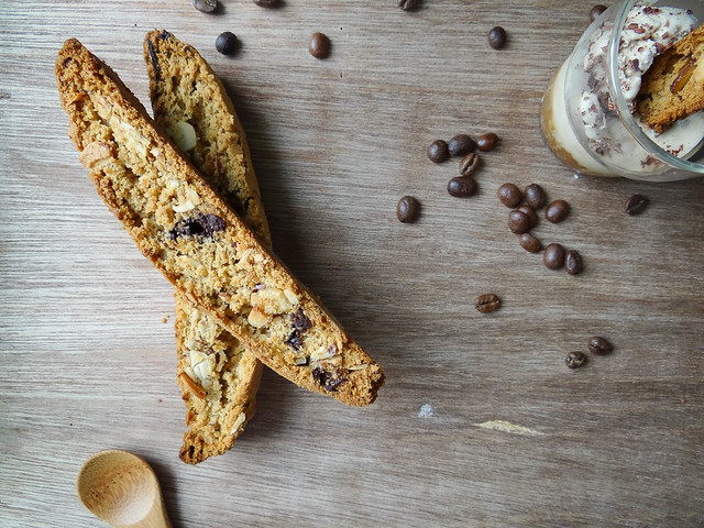 affogato + chocolate espresso biscotti