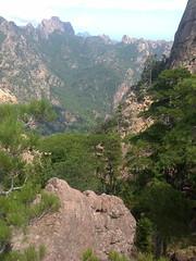 Le haut du couloir de descente vers la Frassiccia