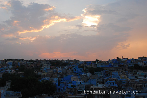 View of the Blue City of Jodhpur at dusk (3)