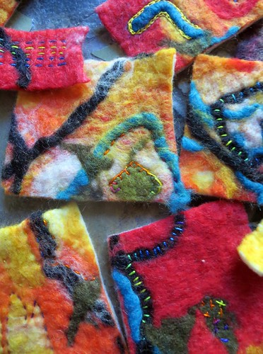 wet felting project