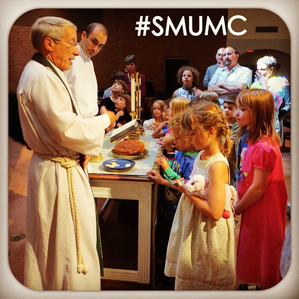 #SMUMC's Welcome to #Worship event for 1st Graders (9/15/13)