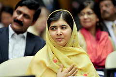 Malala Yousafzai at the Global Education First Initiative anniversary event