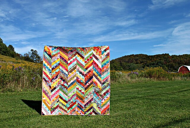 An Autumn Herringbone Quilt // Maureen Cracknell Handmade