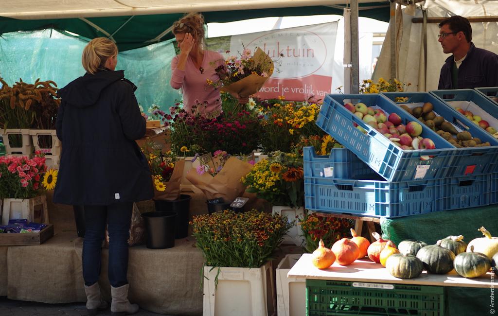 Amsterdam, Flowers at Nieuwmarkt