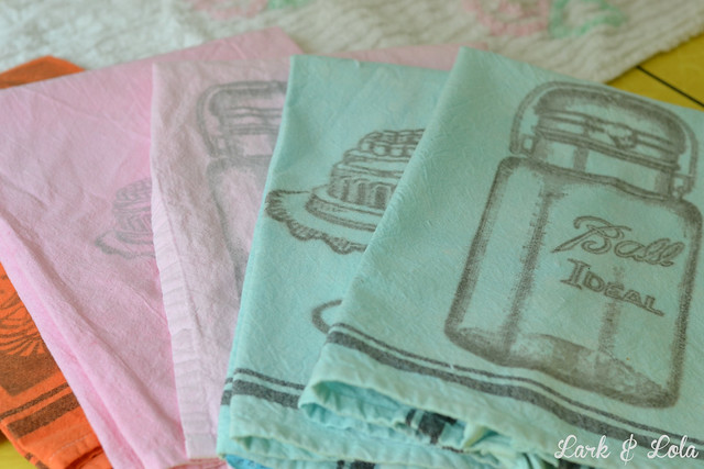 Dye & transfer tea towels