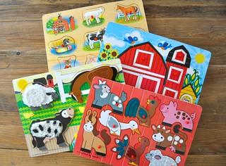 Farm Peg Puzzles