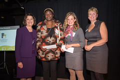 2013 Grant Recipient Elizabeth Fry Society of Greater Vancouver, represented by Ireen Chibinga and Jodi Sturge.