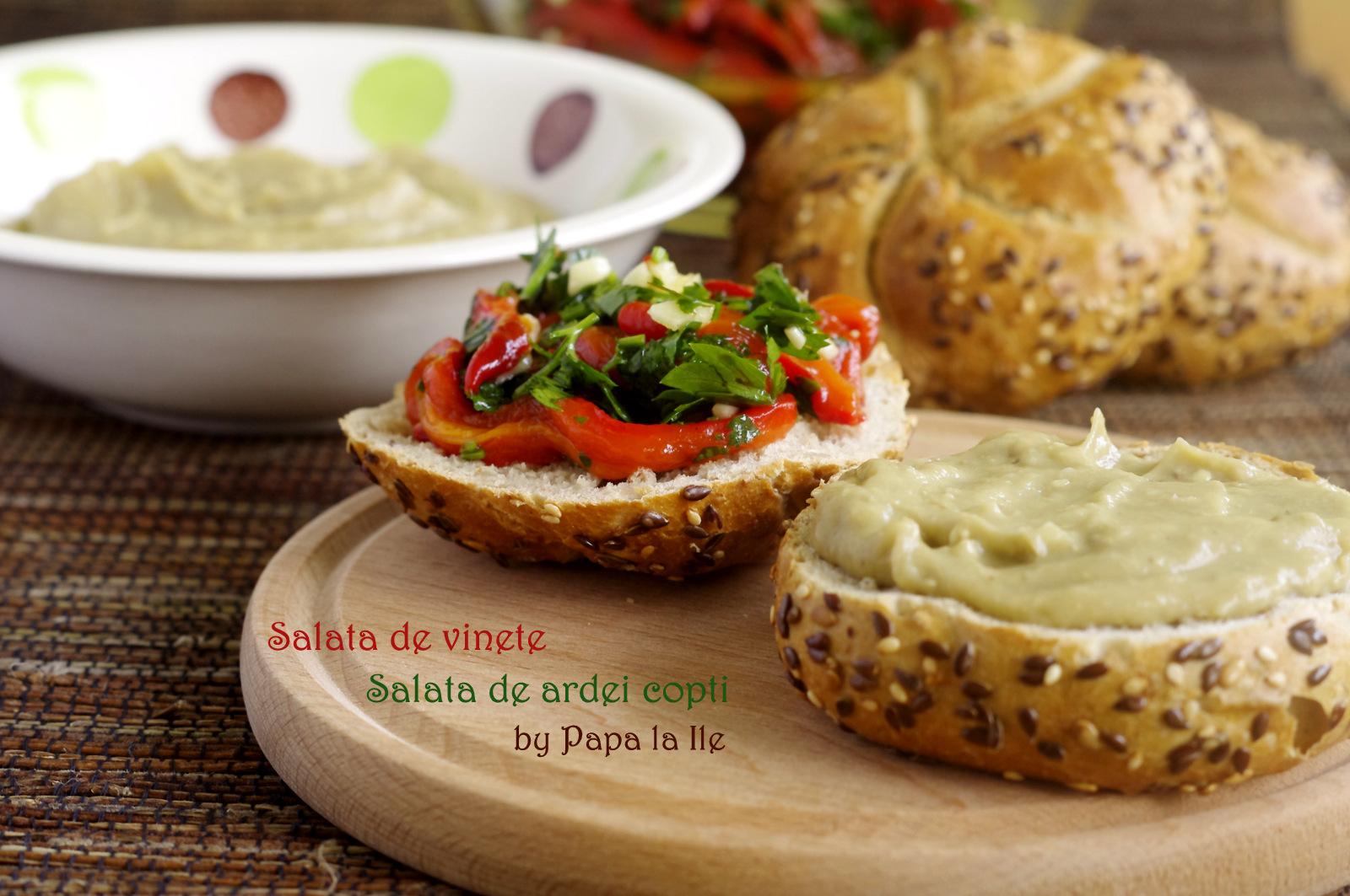 Salata de vinete, salata de ardei copti (6)