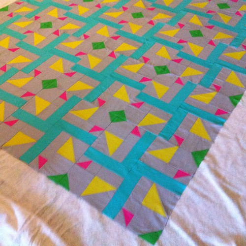 Quilt top done and getting basted.