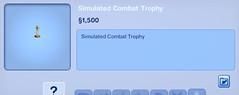 Simulated Combat Trphey