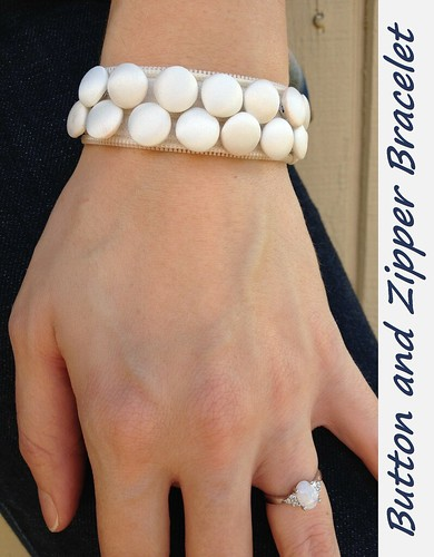 Button and Zipper Bracelet