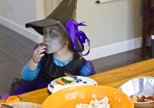 Nora Lea was a scary purple witch.