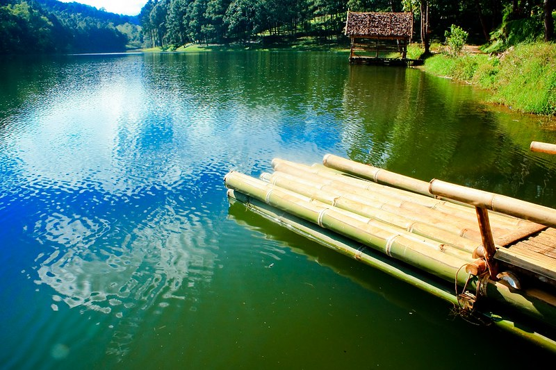 Pang-ung lake at Maehongson, Thailand