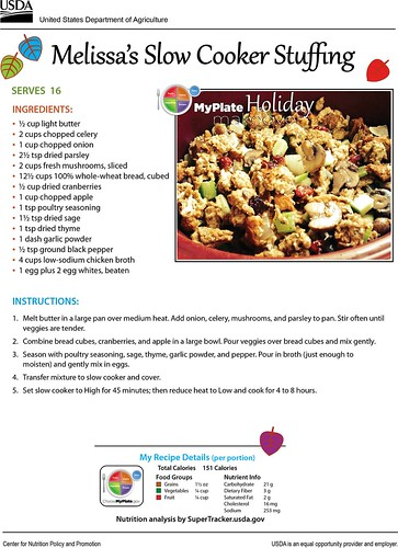 Melissa's Slow Cooker Stuffing recipe