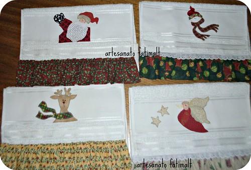 Natal- toalhas p/lavabo by fatimalt