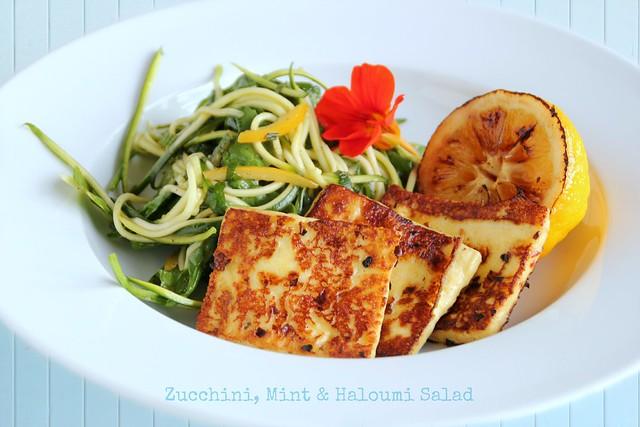 Zucchini, Mint & Haloumi Salad