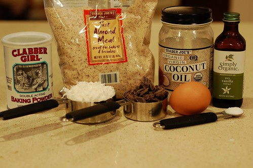 Ingredients for the gluten and dairy-free almond coconut chocolate chunk cookies by Eve Fox, the Garden of Eating blog, copyright 2013