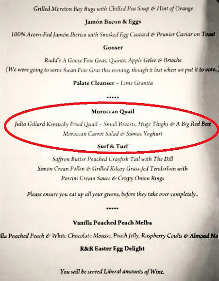 Julia Gillard Menu