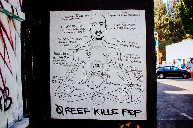 graffiti, los angeles, street art, california, tupac, 2pac