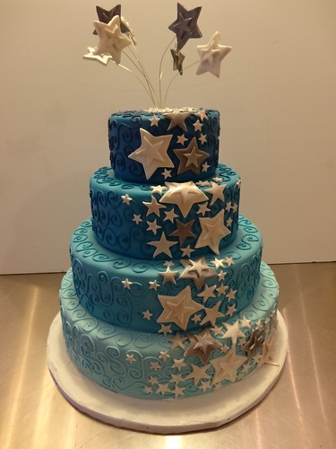 Starry Wedding Cake by CAKE Amsterdam - Cakes by ZOBOT