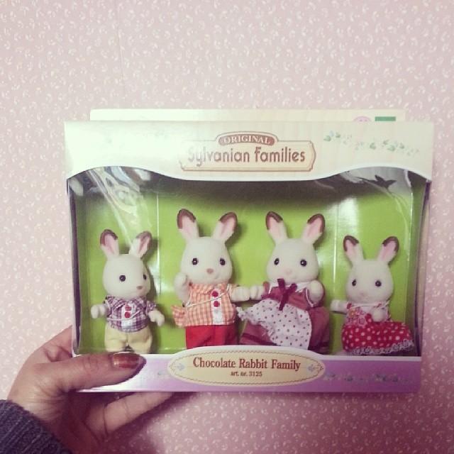 ★ la famille lapin chocolat #sylvanian pour ma néné★ #ourlittlefamily #france #blog #blogueuse
