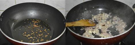 preparing palak paneer