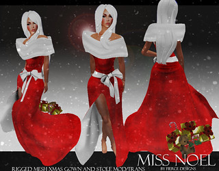 miss noel red by fierce designs