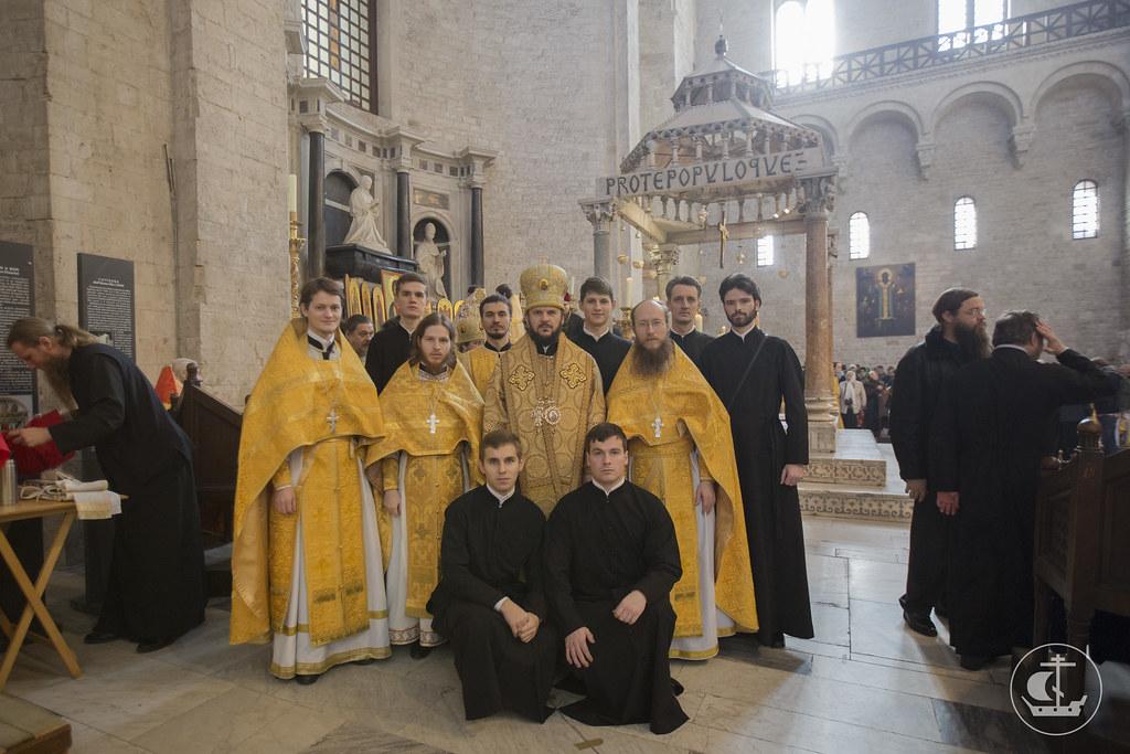 18/19 декабря, Представители духовной академии СПб приняли участие в праздновании дня памяти святителя Николая в г. Бари