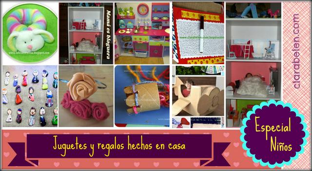 Recopilación de juguetes caseros para el día de Reyes