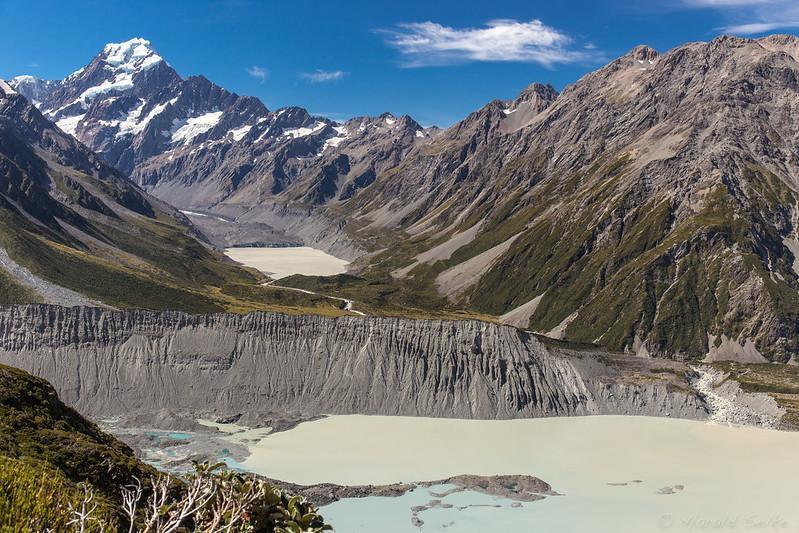 Aoraki/Mount Cook, Mueller, and Hooker Valleys