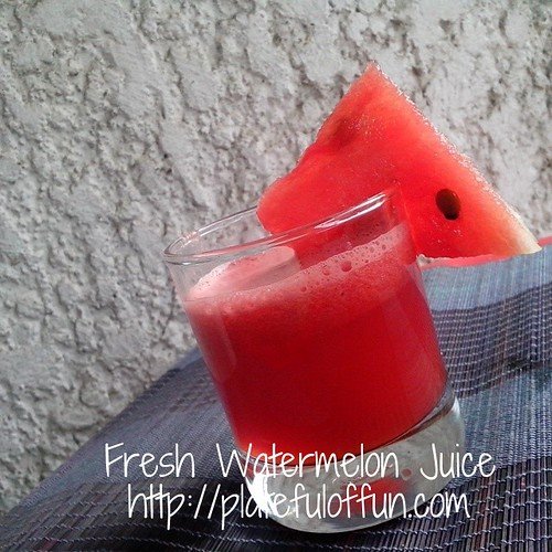 Refreshing watermelon juice.