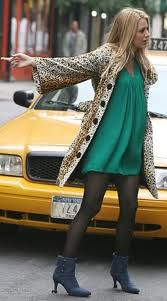 Blake Lively Leopard Print Coat Celebrity Style Women's Fashion