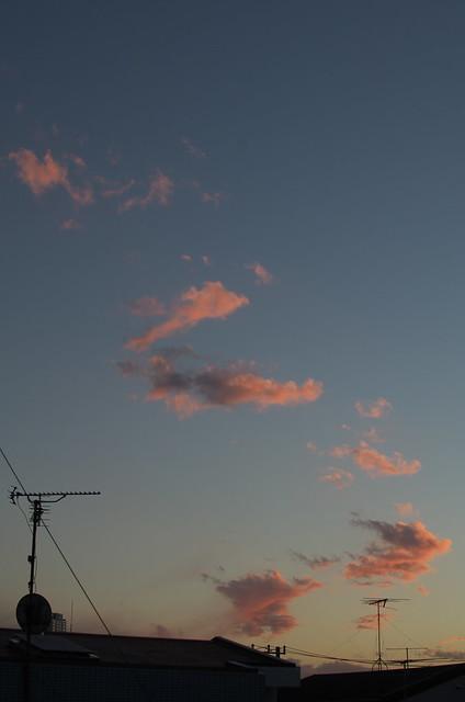 東京路地裏散歩 夕空 2014年1月26日
