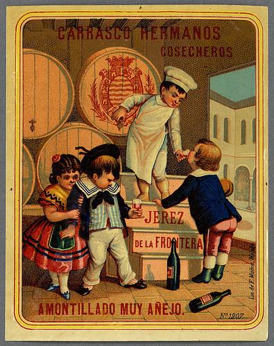026- Etiquetas de bebidas. Niños y ángeles -1890 - 1920 - Biblioteca Digital Hispánica