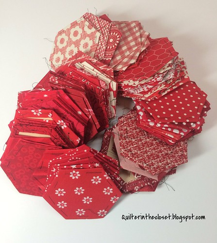 red hexagons in progress