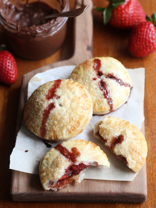 Strawberry Nutella Hand Pies | completelydelicious.com