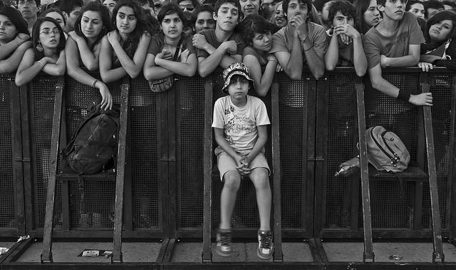 front row / primera fila