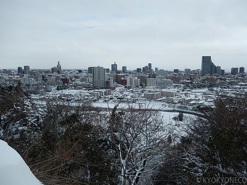 雪の仙台市