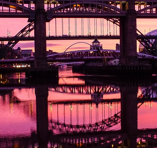 Red Sky in the morning Quayside Newcastle Upon Tyne