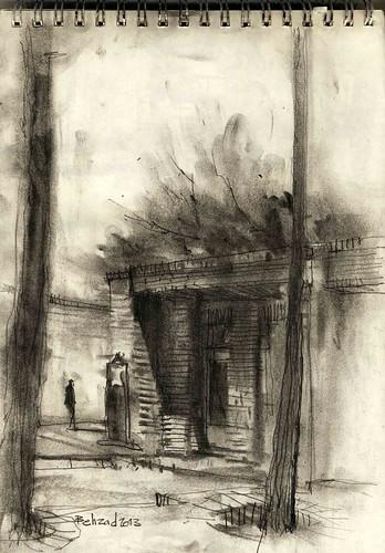 Chehel Sotoun (6) by Behzad Bagheri Sketches