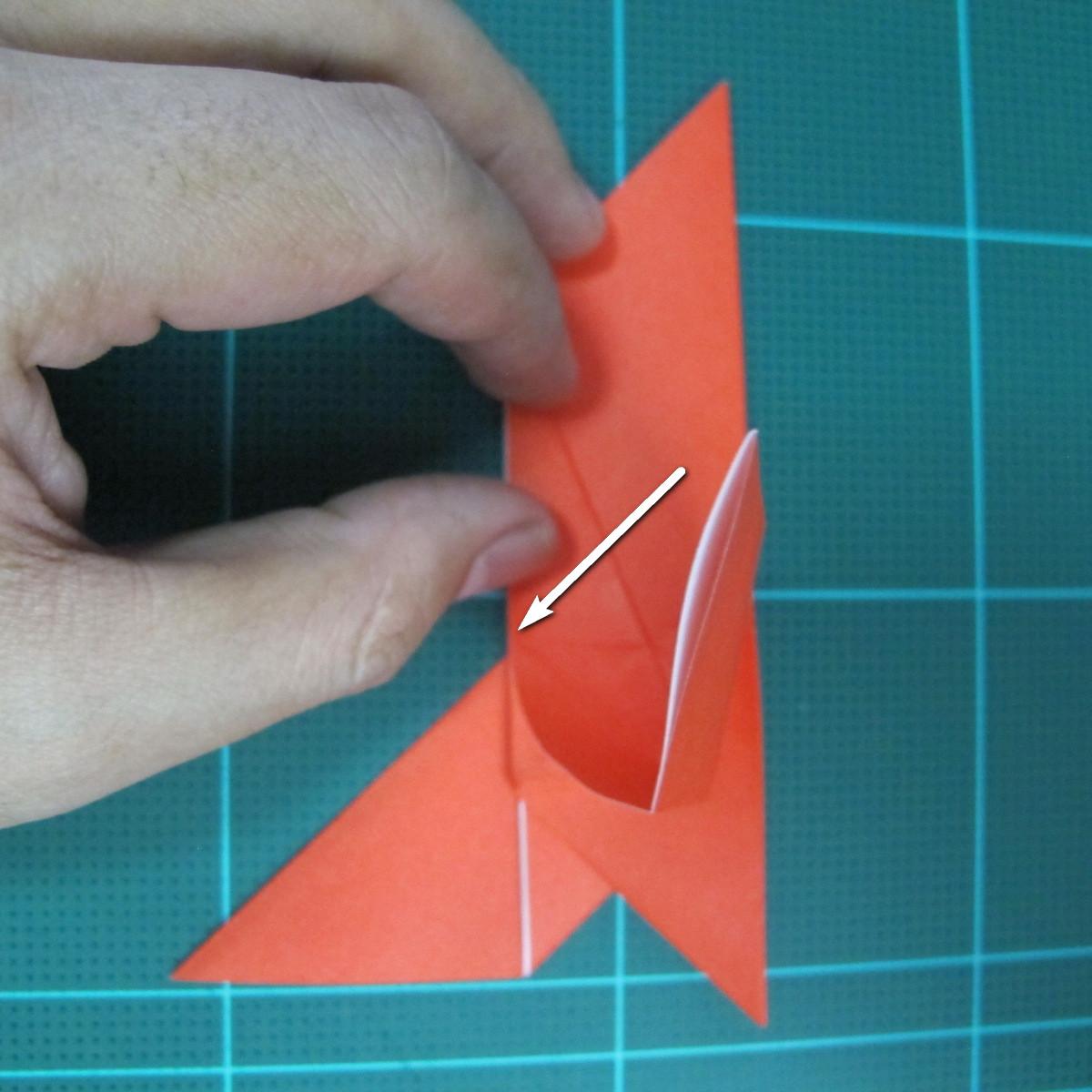 การพับกระดาษเป็นนกพิราบ (Origami pigeon) 00022