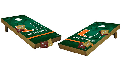 Miami Hurricanes Premium Cornhole Boards