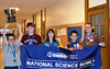 Los Alamos Middle School wins regional Science Bowl (From left to right: David Gao, Phillip Martin, Sonyia Williams, Presley Gao and coach Naomi Unger)
