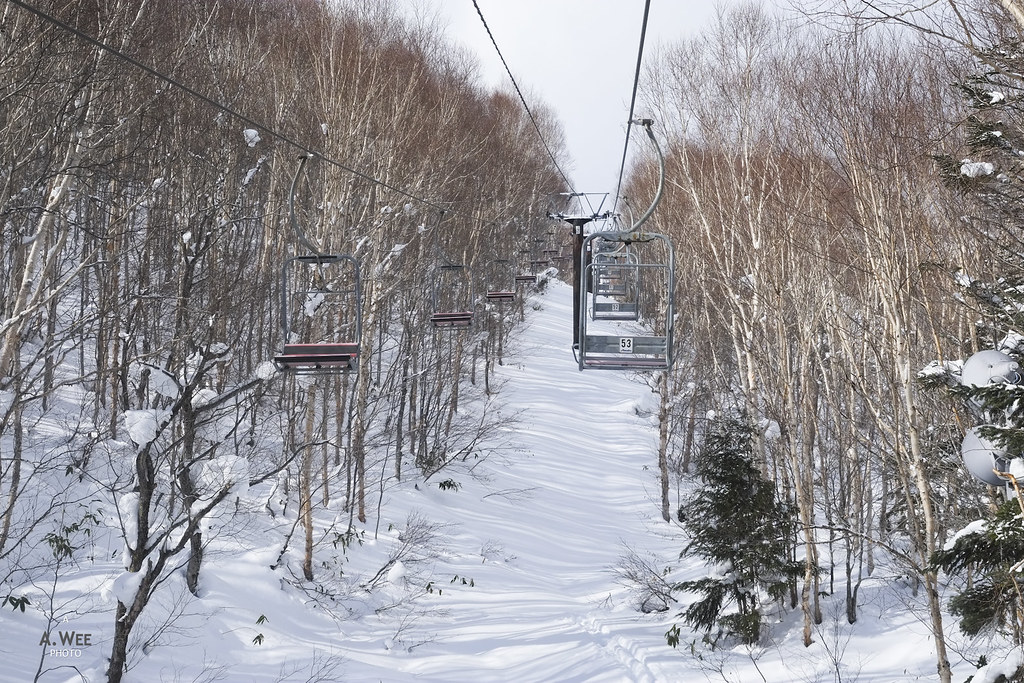 Chairlift at Yakebitaiyama 焼額山
