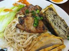 Grilled Pork Chop, Shredded Pork, Crabmeat Patty,…