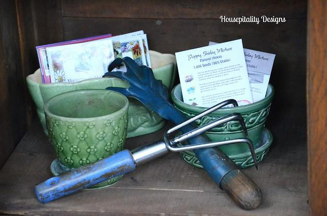 Vintage Garden Tools/Flower Pots