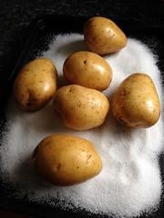 gratin de baked potatoes