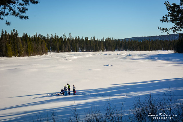 An Arctic Adventure in Swedish Lapland - Gathering Water from the River
